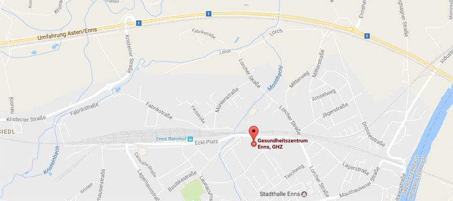 Anfahrt Dr. Axel Krause - Chirurgie - Gesundheitszentrum Enns